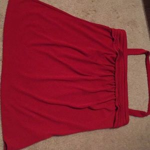 The Limited red halter top
